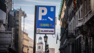 Los parkings madrileños, semivacíos por el cierre de Gran Vía