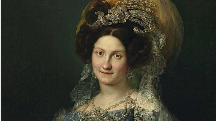 Retrato de María Cristina de Borbón Dos Sicilias.