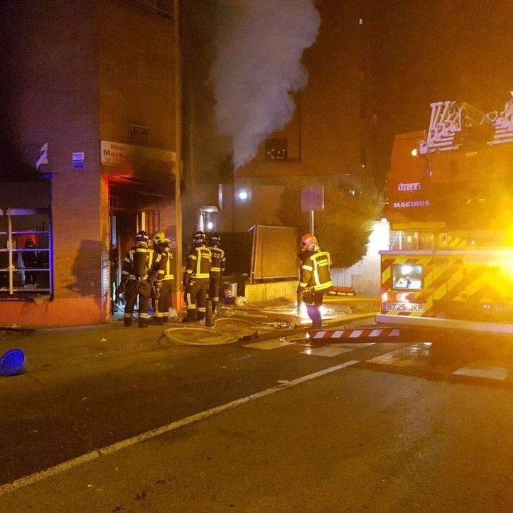 Explosión de gas en una tienda de Arganzuela