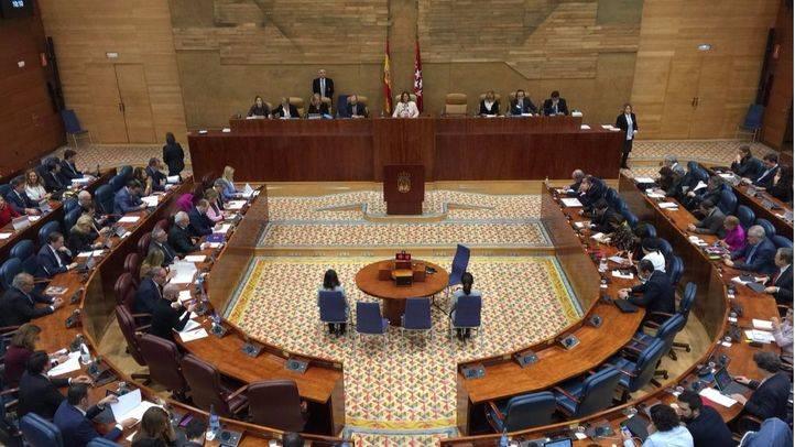 Pleno de la Asamblea de Madrid.