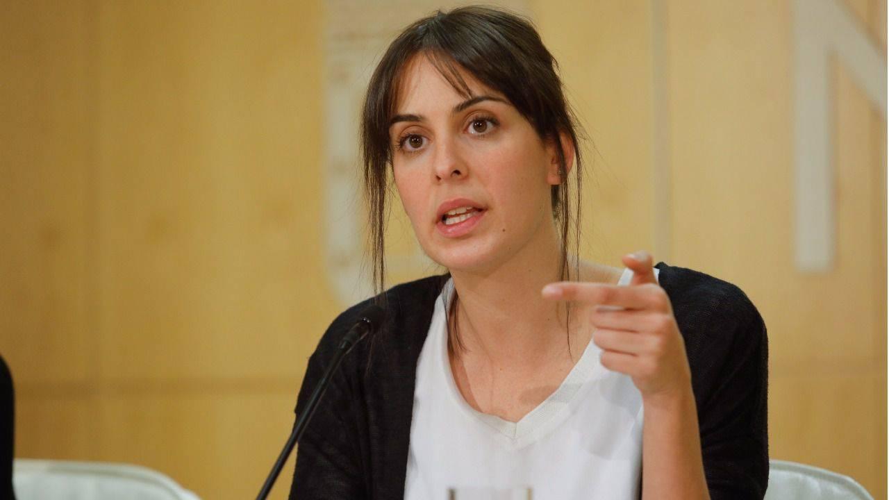 Rita Maestre, portavoz del Ayuntamiento de Madrid, informa a los medios de comunicación de los acuerdos adoptados en la junta de gobierno.