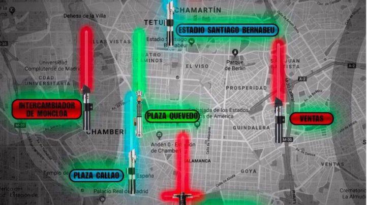 Las espadas láser invaden la capital