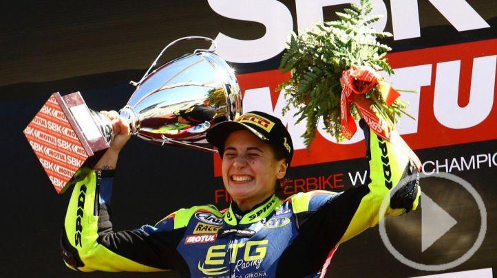 Ana Carrasco, primera mujer que gana una prueba de moto