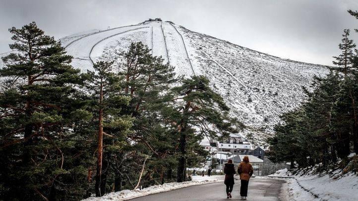Foto de archivo de la estación de esquí de Navacerrada.
