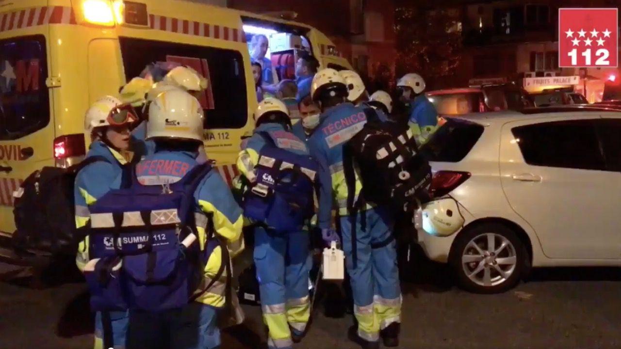 Diez afectados por un incendio en Arganzuela
