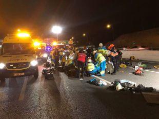 Tres heridos en un accidente en Leganés