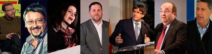 Candidatos a las elecciones catalanas.