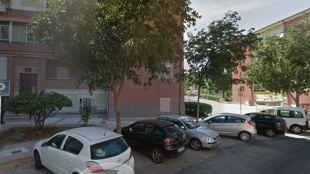 La calle donde de produjo la explosión en un cuarto de contadores