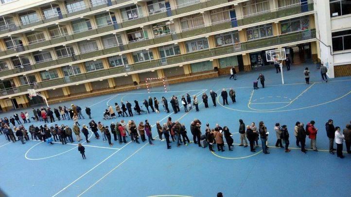 Colas para votar en las elecciones catalanas