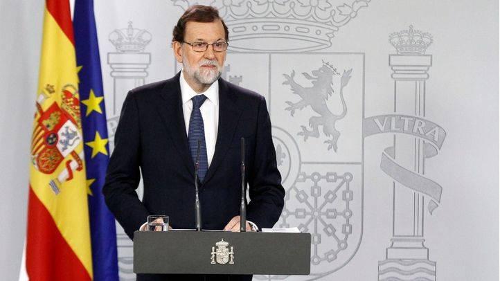 Imagen de archivo de Mariano Rajoy durante una rueda de prensa.