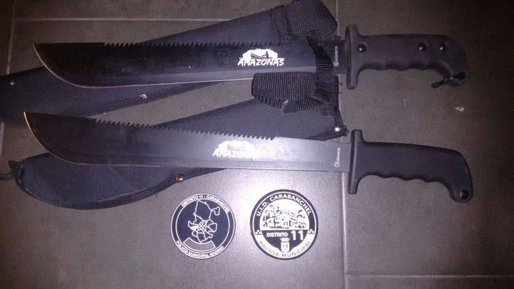 Detenidos cinco menores tras perseguir con machetes a un joven en Carabanchel