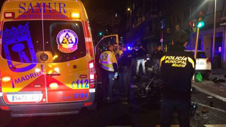 Un motorista, grave tras chocar con un coche en Chamartín