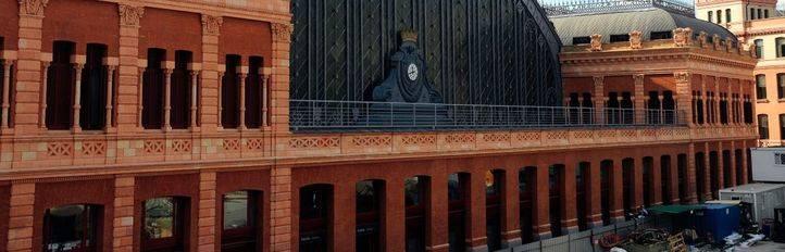 Fachada histórica de la estación de Atocha.