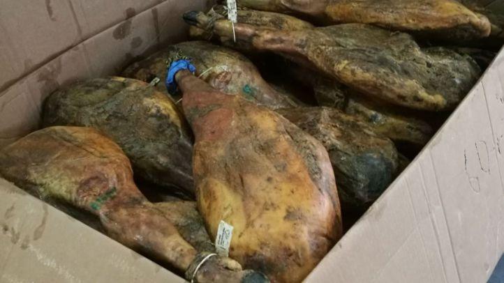 La Policía recupera más de 900 quesos, embutidos y jamones ibéricos robados por valor de 27.000 euros