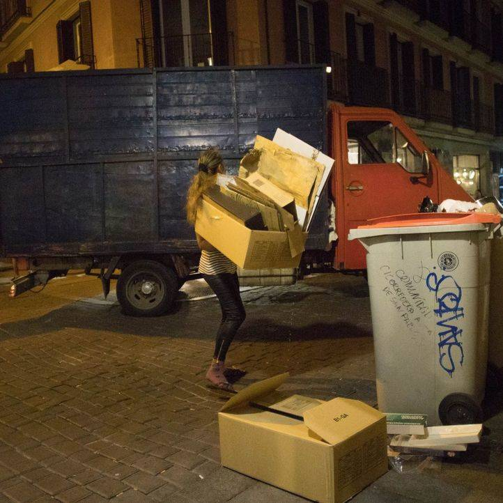 Golpe al robo de cartón en Hortaleza