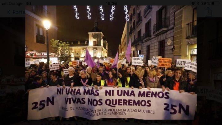 Manifestación en Madrid contra la violencia de género el pasado 25 de Noviembre