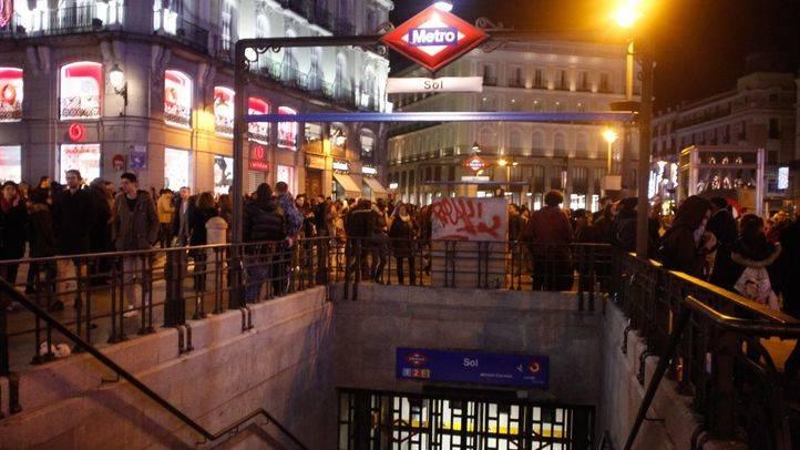 Foto de archivo de la estación de metro y cercanías de Sol cerrados a las nueve de la noche por las 'preuvas'