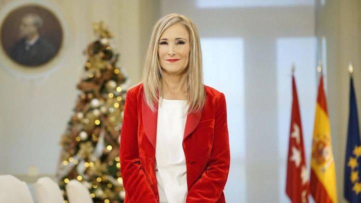 Cristina Cifuentes, en el discurso de Nochevieja emitido por Telemadrid
