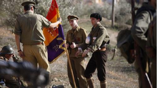 Recreción de la batalla del Jarama de la Guerra Civil en Morata.