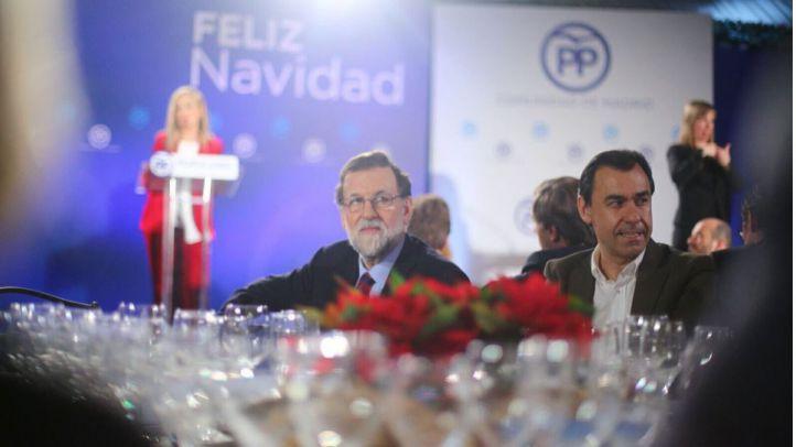Cristina Cifuentes, Mariano Rajoy y Fernando Martínez-Maíllo