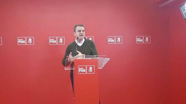 José Manuel Franco, secretario general del PSOE-M, en la rueda de prensa