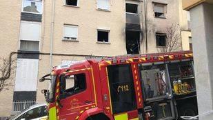 Herida muy grave en un incendio en El Escorial