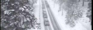 La nieve complica la 'operación retorno'