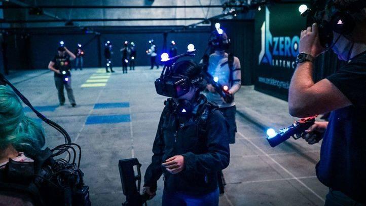 Espacio de realidad virtual en Zero Latency