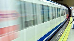 Imagen de archivo de un tren de Metro.