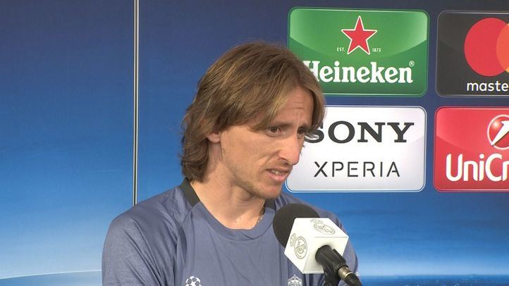 Luka Modric tras un partido de la Champions.