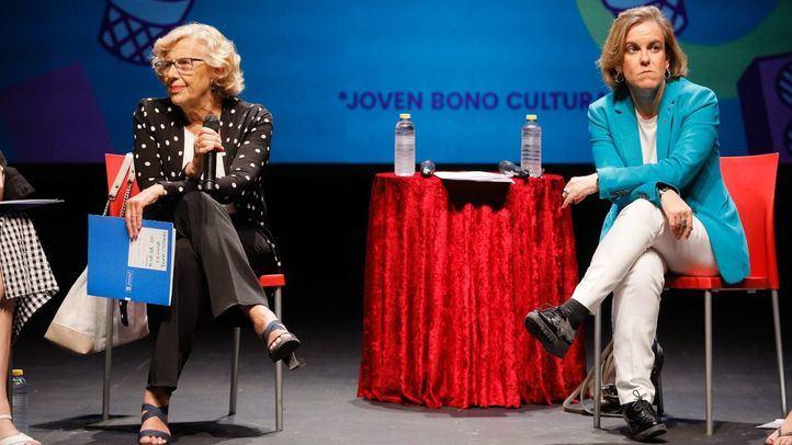 Manuela Carmena y Purificación Causapié en una imagen de archivo.