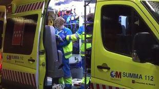 Cuatro miembros de una misma familia, intoxicados en un incendio en Móstoles
