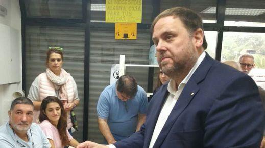 Oriol Junqueras, en la votación del 1-O