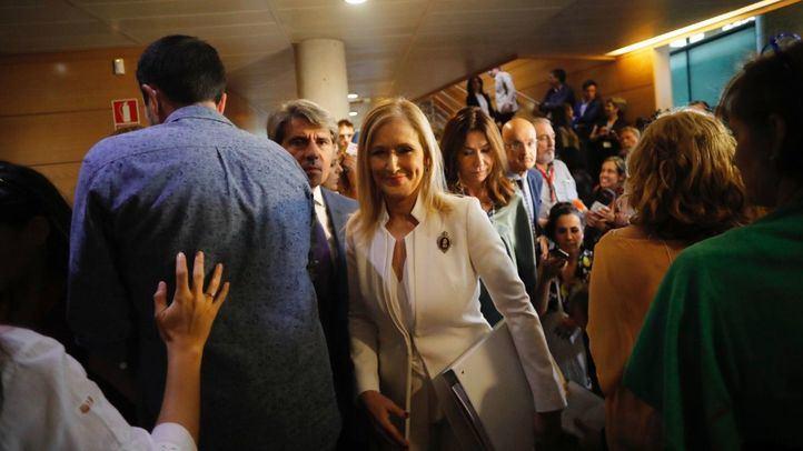 Comparecencia de la presidenta de la Comunidad de Madrid, Cristina Cifuentes, en la comisión de investigación de la corrupción en la Asamblea de Madrid.