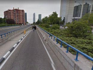 El túnel de Pío XII, cerrado en sentido salida desde la M-30