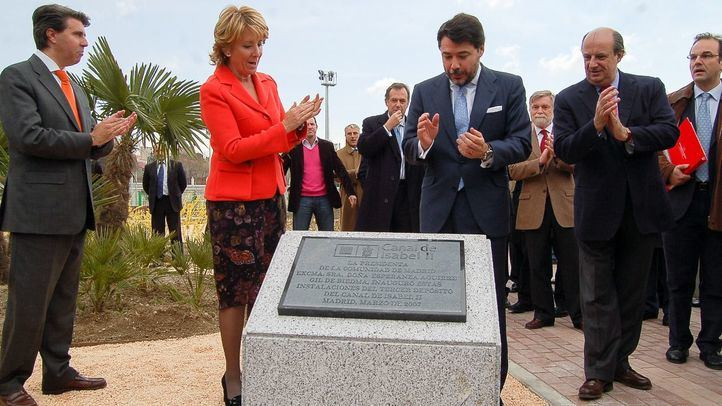 Esperanza Aguirre e Ignacio González el día de la inauguración del campo de golf del Canalde Isabel II en 2007.