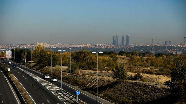 Imagen de archivo de la boina de contaminación sobre la ciudad de Madrid.