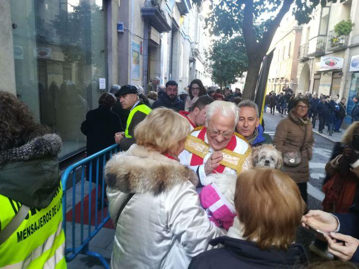 'Bendición peluda' en la iglesia de San Antón