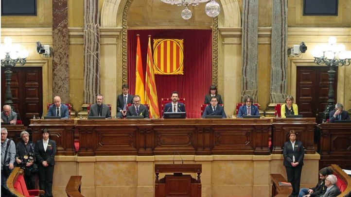 La nueva mesa del Parlament, con Roger Torrent como presidente