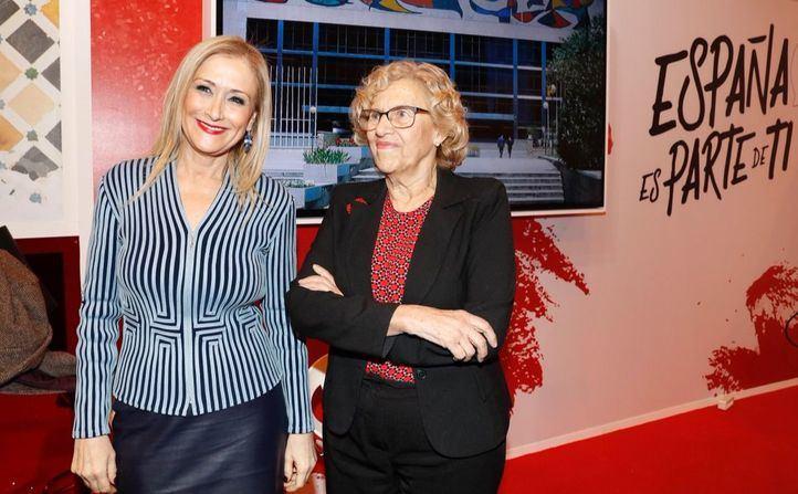 Manuela Carmena y Cristina Cifuentes, este jueves