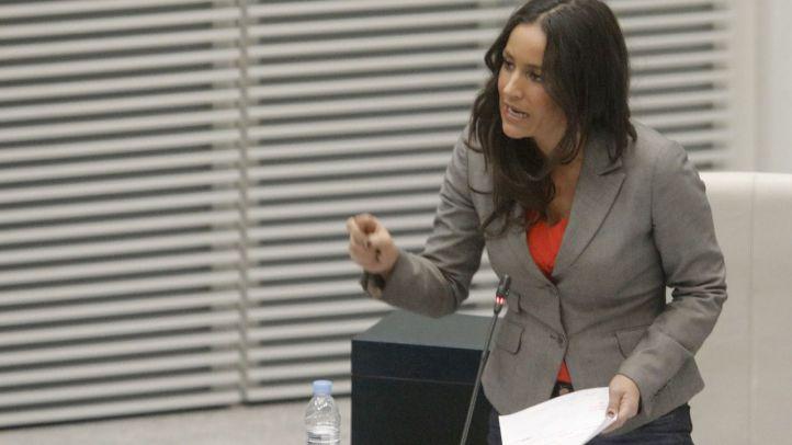 Begoña Villacís interviene el el pleno del Ayuntamiento de Madrid.