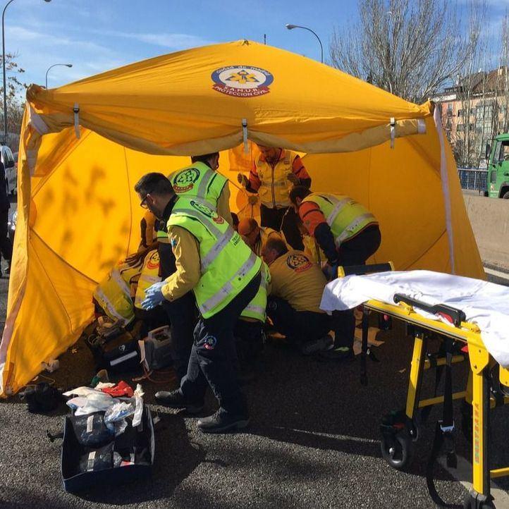 Herido grave tras ser atropellado en la A-5