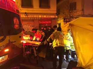 Los servicios de emergencia atendieron a la joven