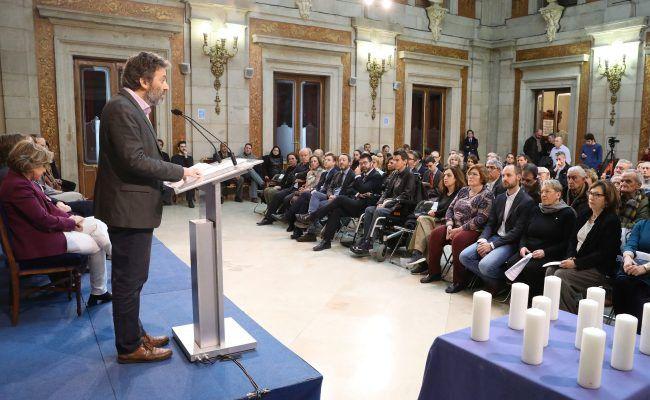 Acto de conmemoración del Día Internacional de la Memoria del Holocausto.