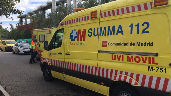 Herido grave tras caer de un andamio en Móstoles