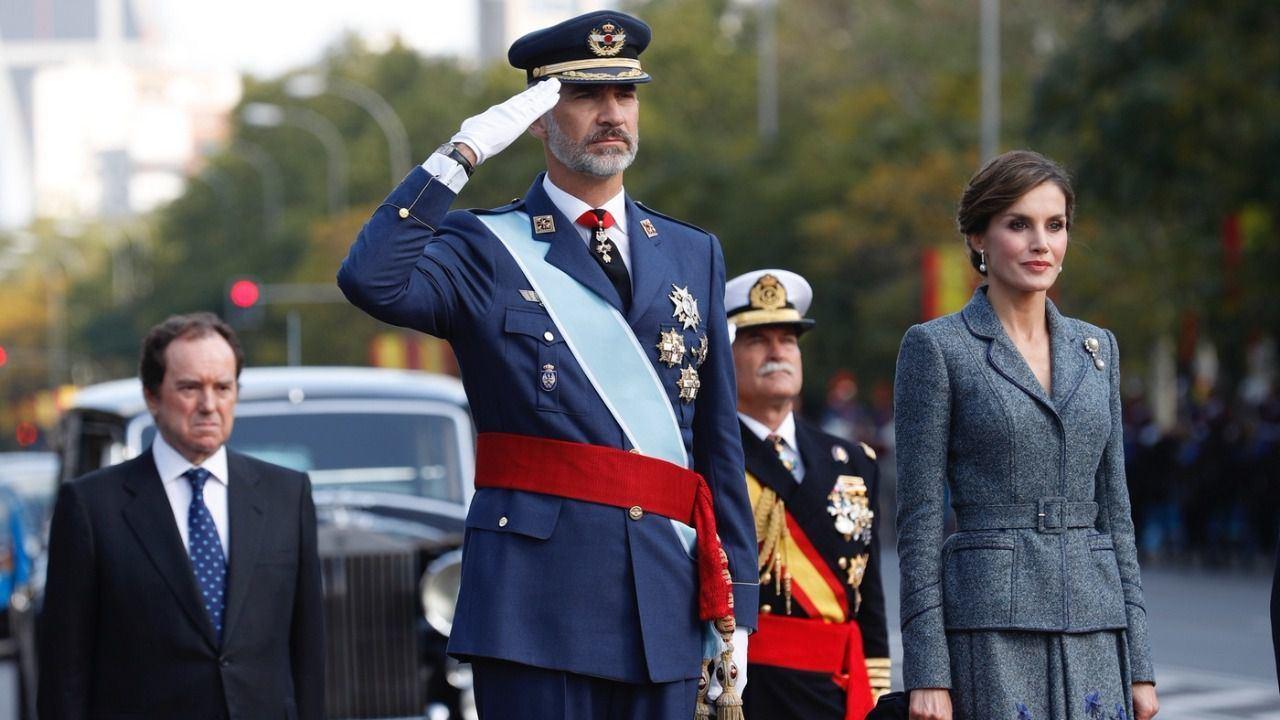 El Rey Felipe VI junto a la Reina Letizia.