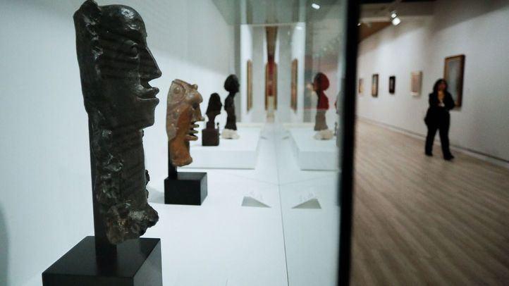 Algunas obras de la exposición 'Derain, Balthus, Giacometti. Una amistad entre artistas'.