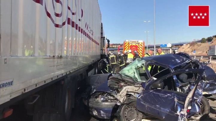 Accidente múltiple en la M-50.