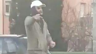 Captura del vídeo en el que supuestamente aparece el secuestrador difundido en las redes sociales