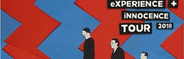 Cartel de la gira de U2 Experience+Innocence Tour 2018.